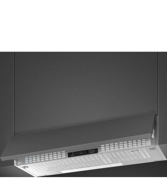 Smeg Cappa integrata sottopensile a scomparsa KSEIR92SE2 finitura silver da 90 cm