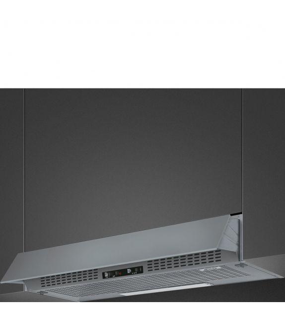 Smeg Cappa integrata sottopensile a vista KSEIR92SEP finitura silver da 90 cm