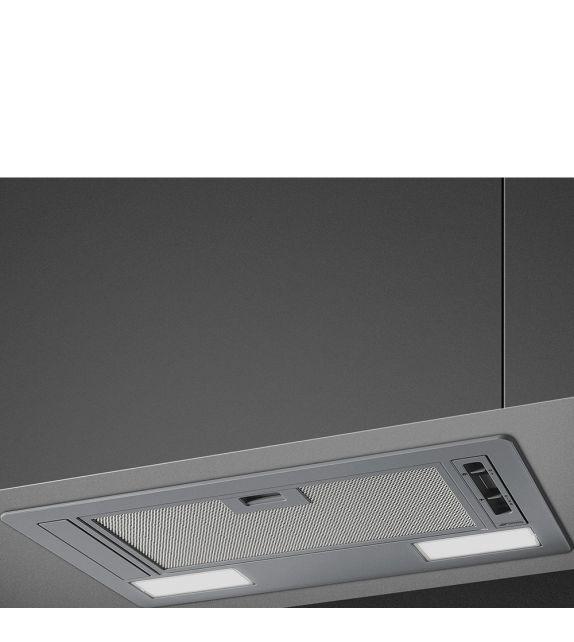 Smeg Cappa integrata a scomparsa KSG52E finitura silver da 54 cm