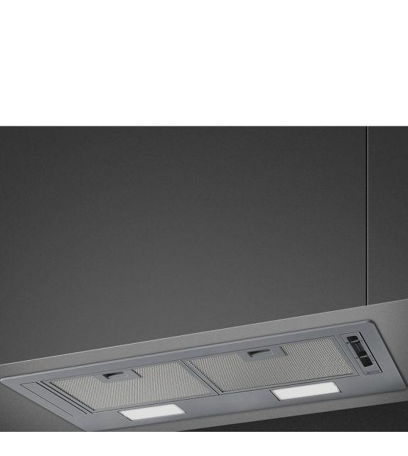 Smeg Cappa integrata a scomparsa KSG70E finitura silver da 73 cm