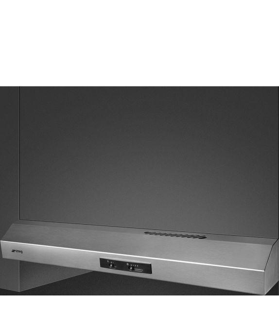 Smeg Cappa integrata sottopensile a vista KTE90EX finitura acciaio inox da 90 cm