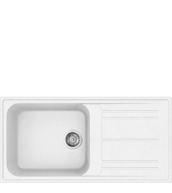 Smeg Lavello ad una vasca con gocciolatoio LZ150B finitura bianco da 100 cm