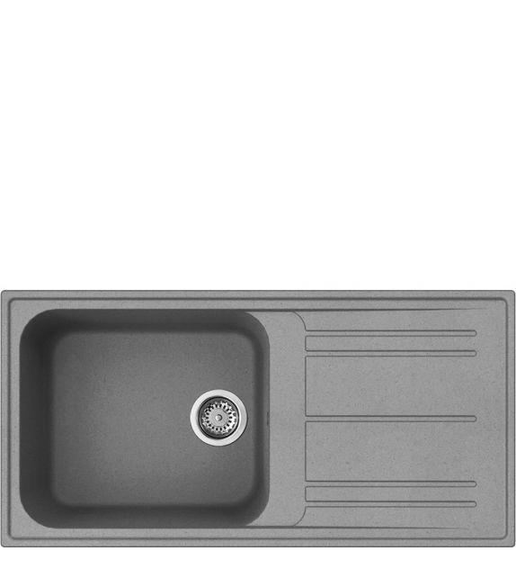 Smeg Lavello ad una vasca con gocciolatoio LZ150CT finitura cemento da 100 cm