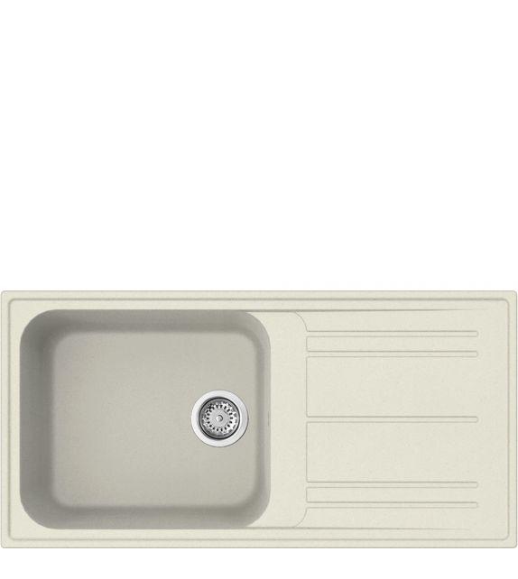 Smeg Lavello ad una vasca con gocciolatoio LZ150P finitura panna da 100 cm