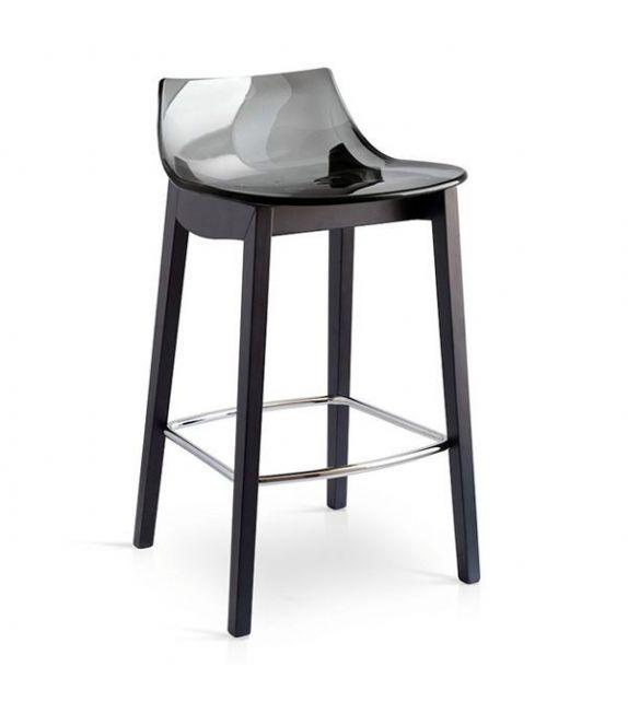 Connubia Sgabello Led CB1541 con struttura in faggio e sedile in copolimero stirene-acrolonitrile da h. 78.5 cm