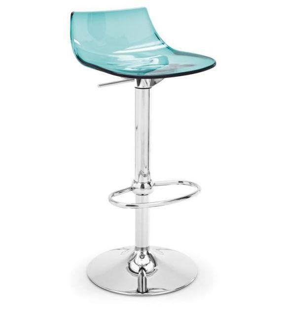 Connubia Sgabello girevole Led CB1405 con struttura in metallo e sedile in copolimero stirene-acrolonitrile da h. 98 (76) cm