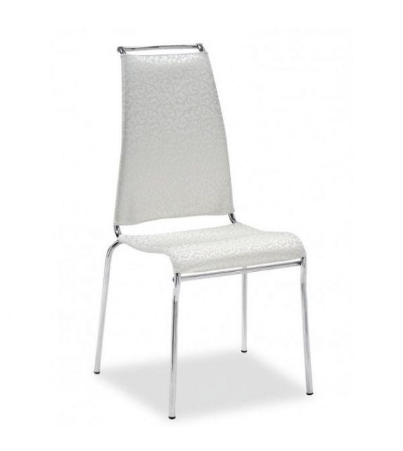 Connubia Sedia Air High CB1069 con struttura in metallo e sedile in net da h. 97.5 cm