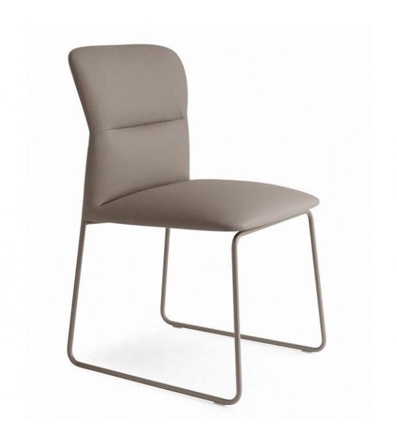 Connubia Sedia Frida CB1806-SK con struttura in metallo e sedile in skuba da h. 85 cm