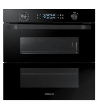 Samsung Forno multifunzione Dual Cook Flex da incasso NV75N5641RB finitura vetro nero da 60cm