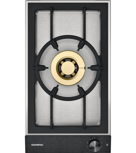 Gaggenau Piano cottura a gas VG 231 220 con panello di controllo nero da 28 cm