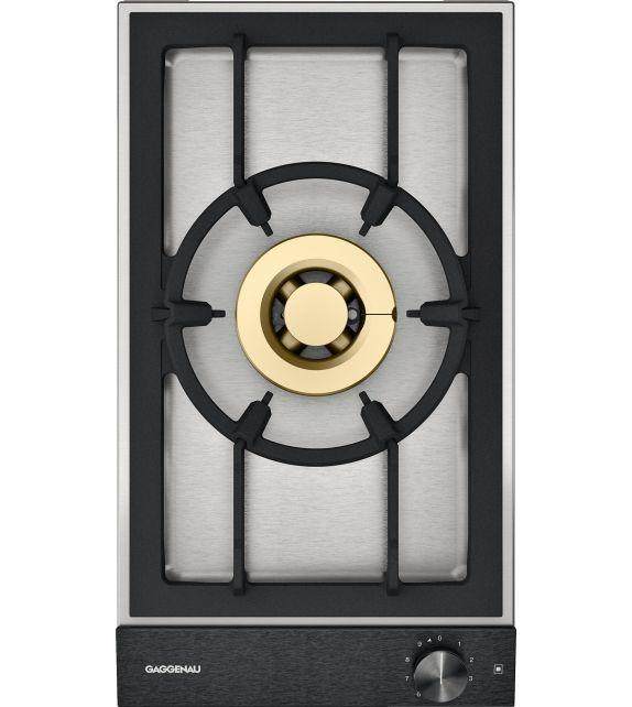 Gaggenau Piano cottura a gas VG 231 120F con panello di controllo nero da 28 cm