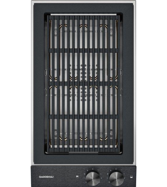 Gaggenau Grill elettrico VR 230 120 con pannello di controllo nero da 28 cm