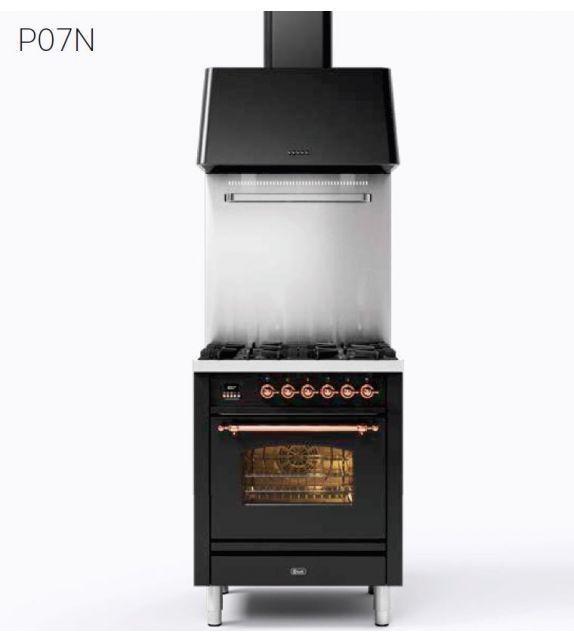 Ilve Cucina P07N Nostalgie P07NE3 con forno elettrico e piano cottura a 4 fuochi da 70 cm