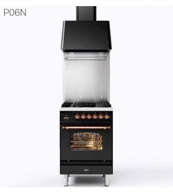 Ilve Cucina P06N Nostalgie P06NH3 con forno a gas e piano cottura a 4 fuochi da 60 cm