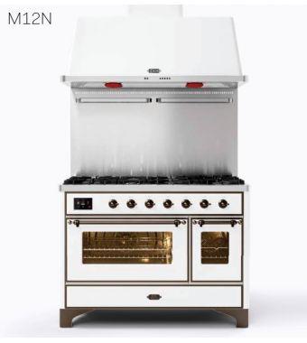 Ilve Cucina M12N Majestic M12FDNE3 con doppio forno elettrico e piano cottura a 8 fuochi con fry top da 121.6 cm