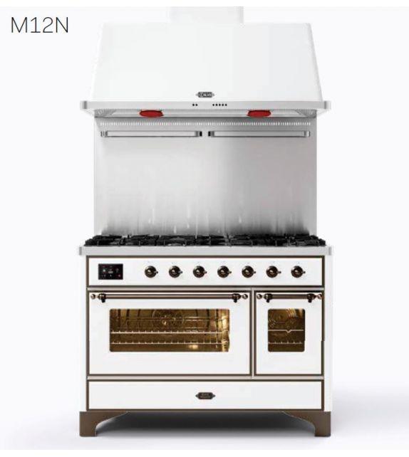 Ilve Cucina M12N Majestic M127DNE3 con doppio forno elettrico e piano cottura a 7 fuochi da 121.6 cm