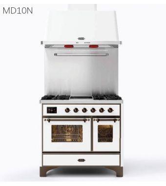 Ilve Cucina MD10N Majestic MD10FDNE3 con doppio forno elettrico e piano cottura a 6 fuochi con fry top da 100 cm