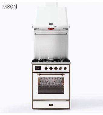 Ilve Cucina M30N Majestic M30DNE3 con forno elettrico e piano cottura a 5 fuochi da 76 cm