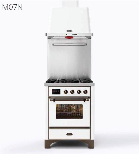 Ilve Cucina M07N Majestic M07DNH3 con forno a gas e piano cottura a 4 fuochi da 70 cm