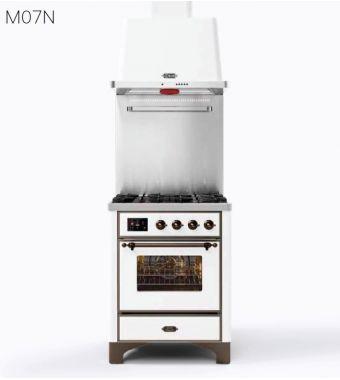 Ilve Cucina M07N Majestic M07DNE3 con forno elettrico e piano cottura a 4 fuochi da 70 cm