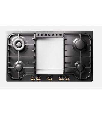 Ilve Piano cottura a gas HCB90FN Nostalgie HCB90FCN in acciaio inox o smaltato da 86 cm
