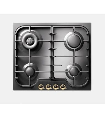 Ilve Piano cottura a gas HCB60N Nostalgie HCB60CN in acciaio inox o smaltato da 58 cm