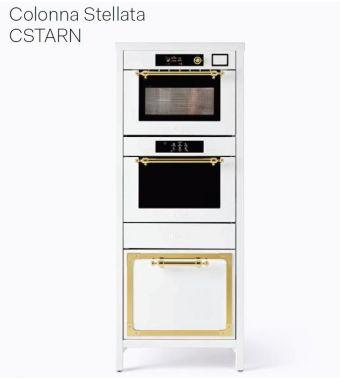 Ilve Colonna Stellata Nostalgie CSTARN comprensivo di forno ultracombi e abbattitore e macchina sottovuoto da 70 cm