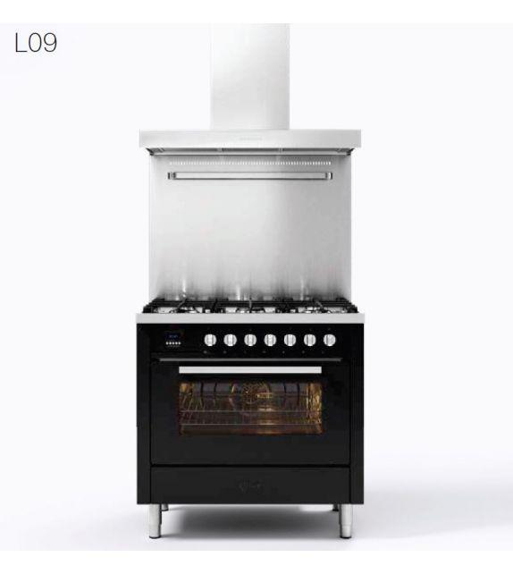 Ilve Cucina L09 Pro Line L096WMP con forno elettrico e piano cottura a 6 fuochi da 90 cm