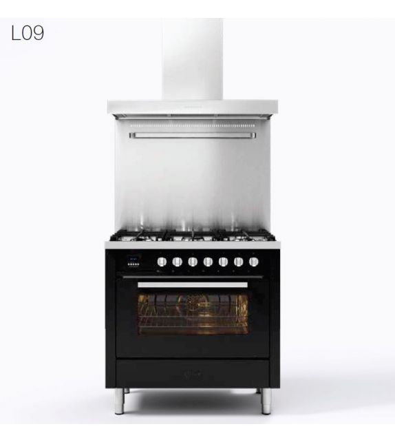 Ilve Cucina L09 Pro Line L09CWMP con forno elettrico e piano cottura a 5 fuochi da 90 cm