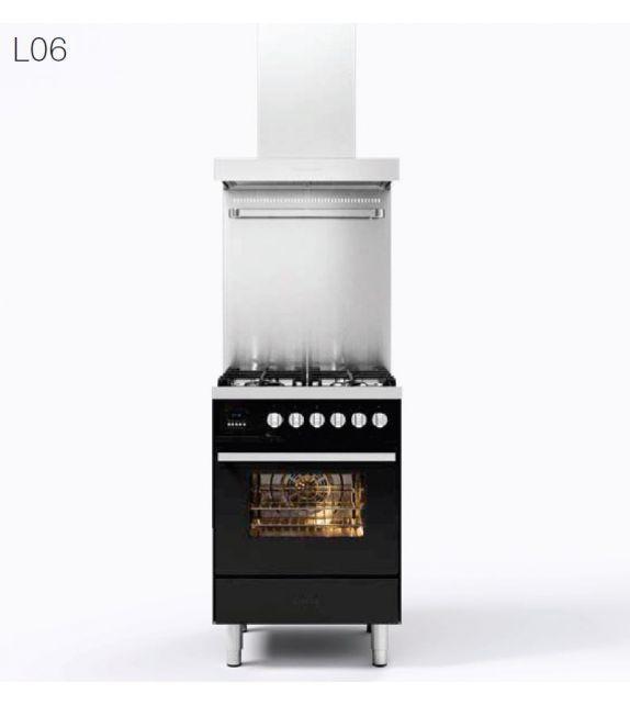 Ilve Cucina L06 Pro Line L06WMP con forno elettrico e piano cottura a 4 fuochi da 60 cm