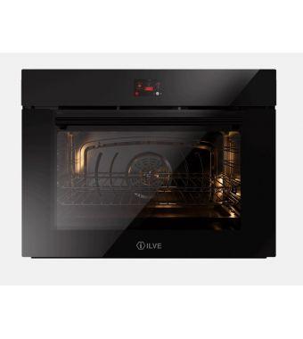 Ilve Forno elettronico multifunzione Professional Plus OV80STCT3 in vetro temperato nero da 80 cm