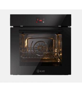 Ilve Forno elettronico multifunzione Professional Plus OV60STCT3 in vetro temperato nero da 60 cm