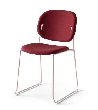 Connubia Sedia Yo! CB1988-N con struttura in metallo e sedile in tessuto plain