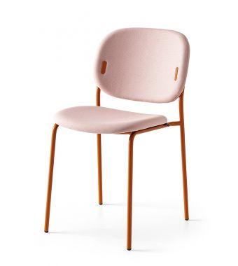 Connubia Sedia Yo! CB1986-N con struttura in metallo e sedile in tessuto plain