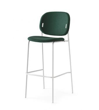 Connubia Sgabello Yo! CB1992-N con struttura in metallo e sedile in tessuto plain da h. 109 cm
