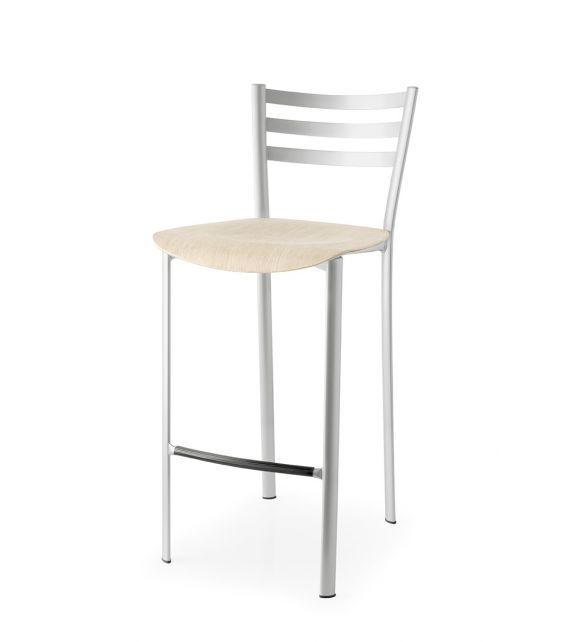 Connubia Sgabello Ace CB1692 con struttura in metallo e sedile in multistrato rovere da h. 92 cm