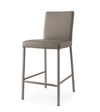 Connubia Sgabello Garda CB1688 con struttura in metallo e sedile in ekos da h. 98 cm