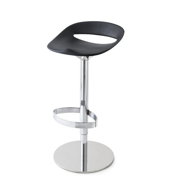 Connubia Sgabello girevole Cosmopolitan CB1943 con struttura in metallo e sedile in polipropilene da h. 94 (77) cm