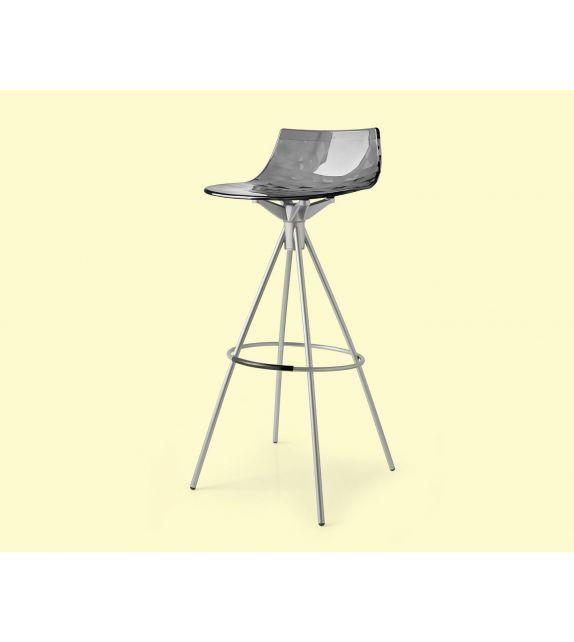 Connubia Sgabello Ice CB1050 con struttura in metallo e sedile in copolimero stirene-acrolonitrile da h. 98 cm