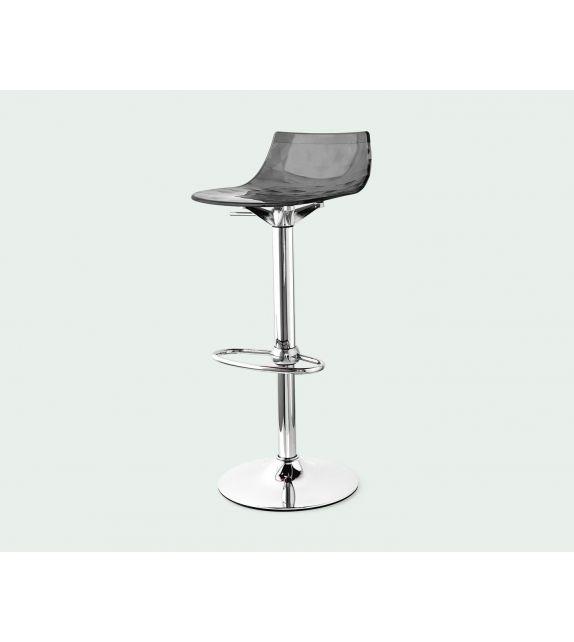 Connubia Sgabello girevole Ice CB1475 con struttura in metallo e sedile in copolimero stirene-acrolonitrile da h. 98 (76) cm
