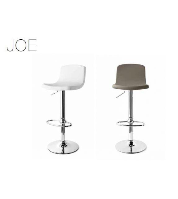 Connubia Sgabello girevole Joe CB1532 con struttura in metallo e sedile ekos da h. 103 (81) cm