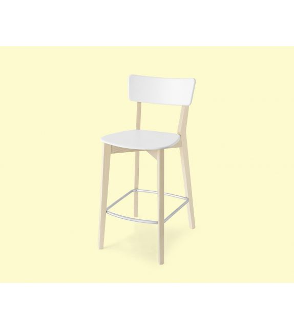 Connubia Sgabello Jelly CB1529 con struttura in faggio e sedile in polipropilene da h. 95 cm