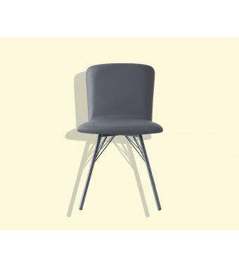 Connubia Sedia Emma CB1662 con struttura in metallo e sedile in ekos da h. 85.5 cm