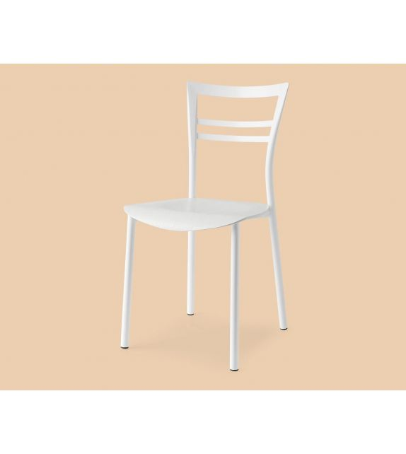 Connubia Sedia Go! CB1690 con struttura in metallo e sedile in multistrato rovere da h. 83 cm