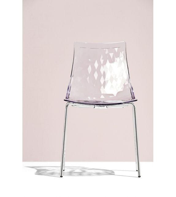 Connubia Sedia Ice CB1038 con struttura in metallo e sedile in copolimero stirene-acrolonitrile da h. 82 cm