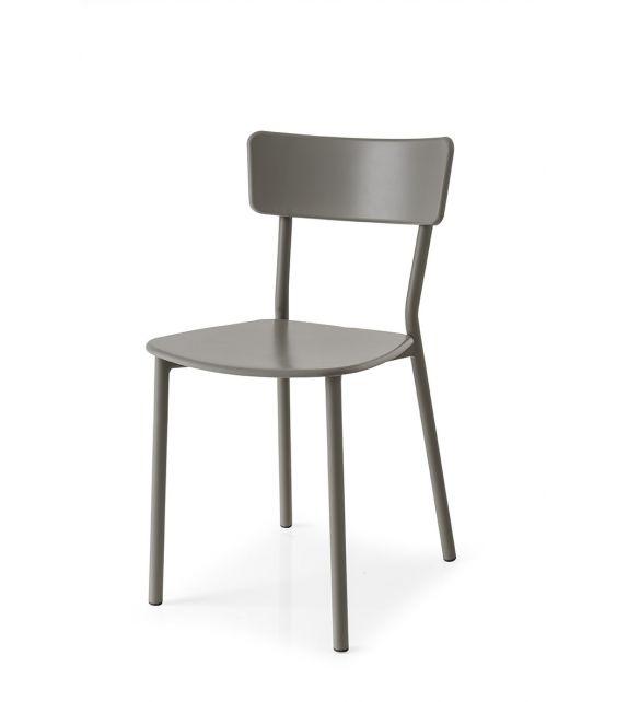 Connubia Sedia Jelly Metal CB1954 con struttura in metallo e sedile in polipropilene da h. 80 cm