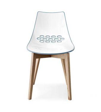 Connubia Sedia Jam CB1486 con struttura in legno e sedile in policarbonato da h. 82.5 cm