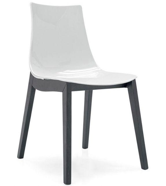 Connubia Sedia Led CB1507 con struttura in faggio e sedile in copolimero stirene-acrolonitrile da h. 81 cm