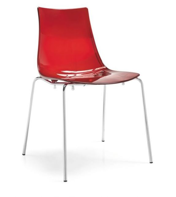 Connubia Sedia LED CB1298 con struttura in metallo e sedile in copolimero stirene-acrolonitrile da h. 80 cm