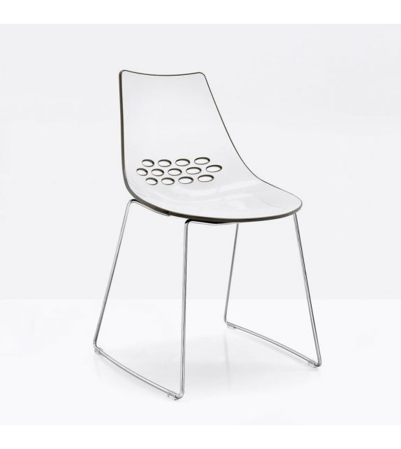 Connubia Sedia Jam CB1059 con struttura in metallo e sedile in policarbonato da h. 82.5 cm